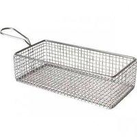 Fish fryer serving basket