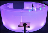 Circular LED Bar Counter Sections (Lumaform)