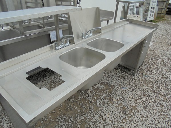 Stainless Steel Double Sink	(4446)