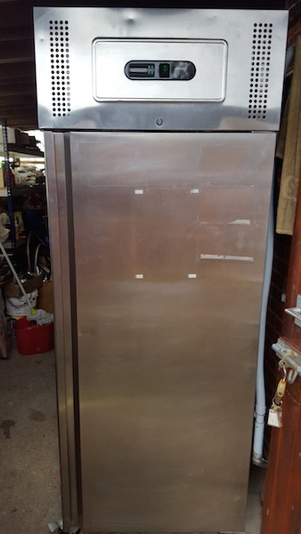 Parry Stainless Steel Lockable Fridge with Keys