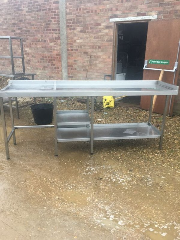 Large Prep Table with Shelving