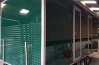 Green toilet trailer