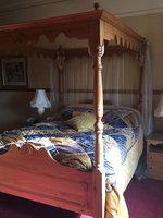 Solid Pine Four Poster Bed and Wardrobe Set
