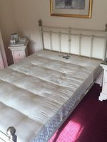 White Metal Bed Frames with Mattresses