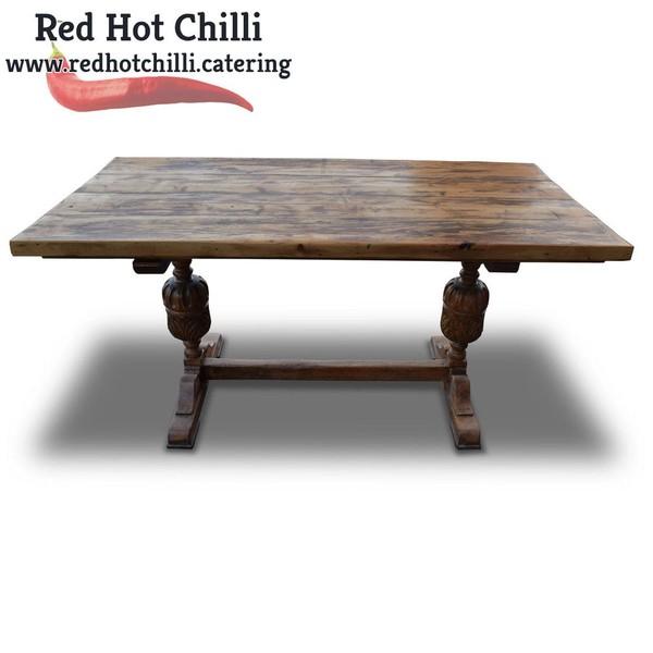 Dark Wood Rustic Table (Ref: RHC2203) - Warrington, Cheshire