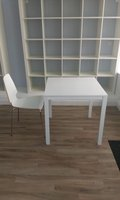 4 White Cafe Table and 8 Chairs