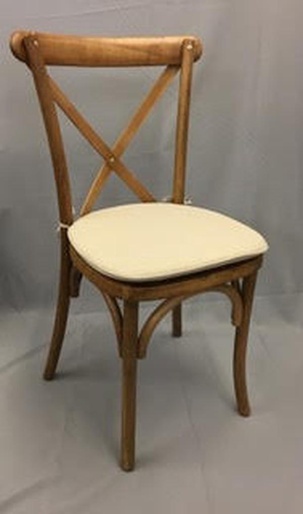 Oak Cross Back Chairs