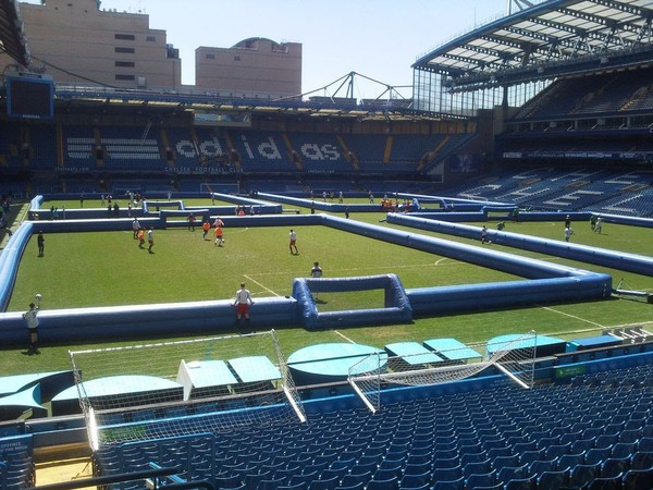 3x Huge Inflatable Square Walled Football Pitches