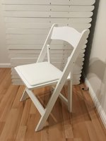 White Wooden Folding Chairs, Wedding Ceremony Chairs