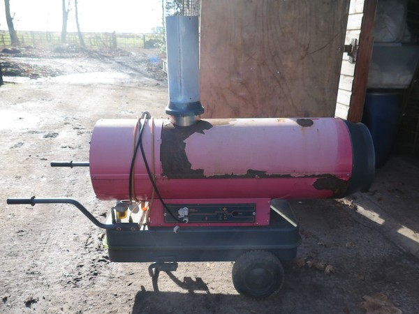 Antares indirect diesel marquee heater