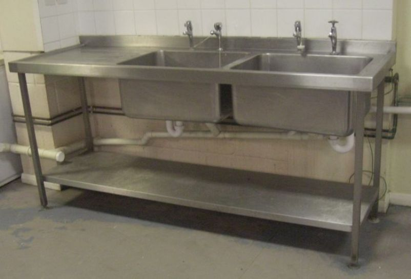 Commercial Basin : ... Sinks and Dishwashers Commercial Double Basin Stainless Steel Sink