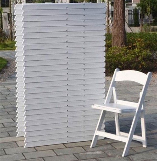White Folding Resin Folding Chairs
