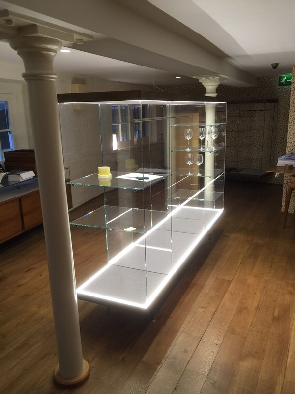 2 x High Quality Italian Glass Shop Display Cabinets