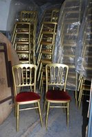 250x Gold Banqueting Chairs
