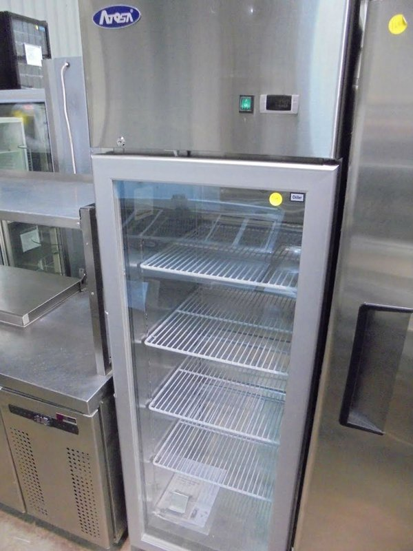 Glass fronted fridge