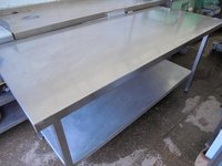 Stainless Steel Table. Shelf. Adjustable Feet. Aluminium Shelf (4854) - Bridgwater, Somerset