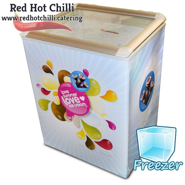 Ice cream display freezer