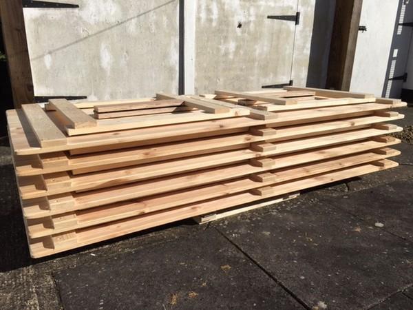 Sold Vintage Style Rustic Wooden Trestle Tables 6u0027 X 2u00276 Part 61