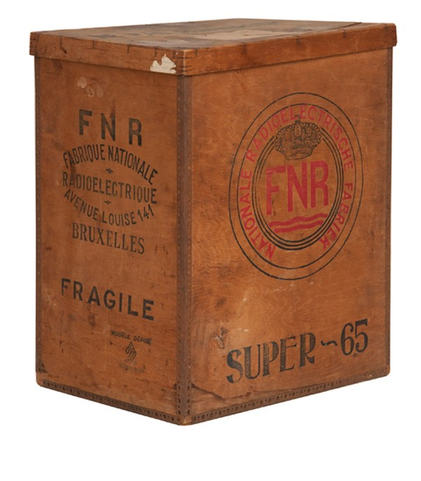 1940's Belgian Radio Factory Storage Box