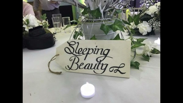 White Wedding Decoration Sign