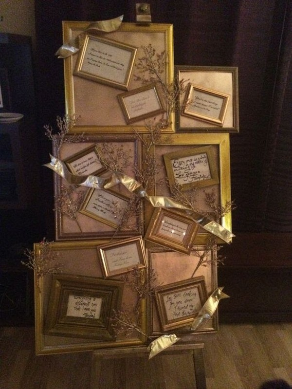 Gold Frames On Easel Quotes