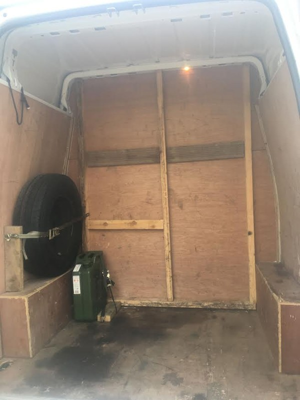Ford Transit Van Back Inside