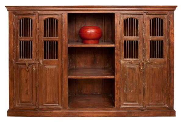 Double Door Cabinet made with 19th Century Joli Doors Rajasthan