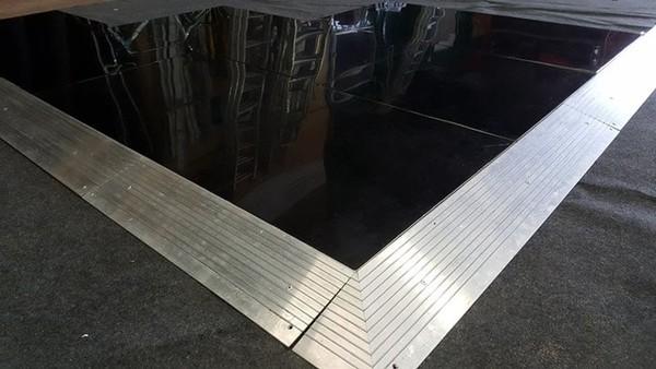 Black Acrylic Tent Floor Close