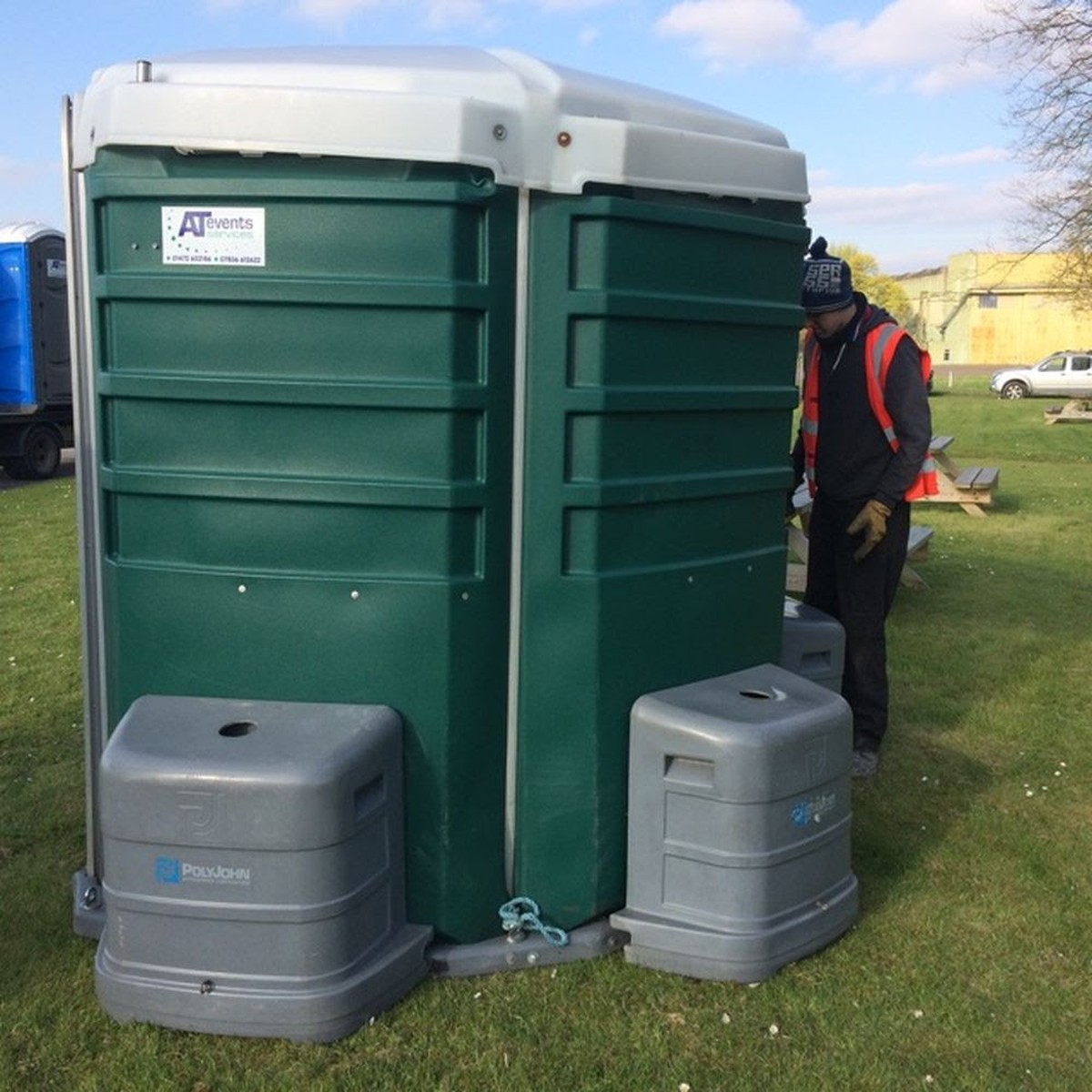 What are some portable toilets sold by polyjohn for Porta johns for sale