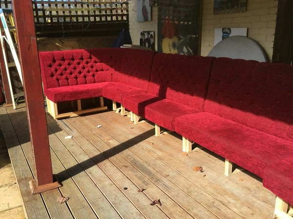 Red Bench Seating