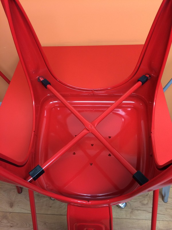 Red Stacking Chair Upderside