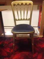 Gold Cheltemham Chair Front With Black Pad