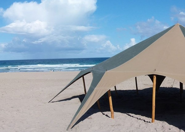 Canvas Tent On The Beach