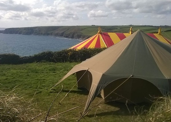 Canvas Tent On The Coast