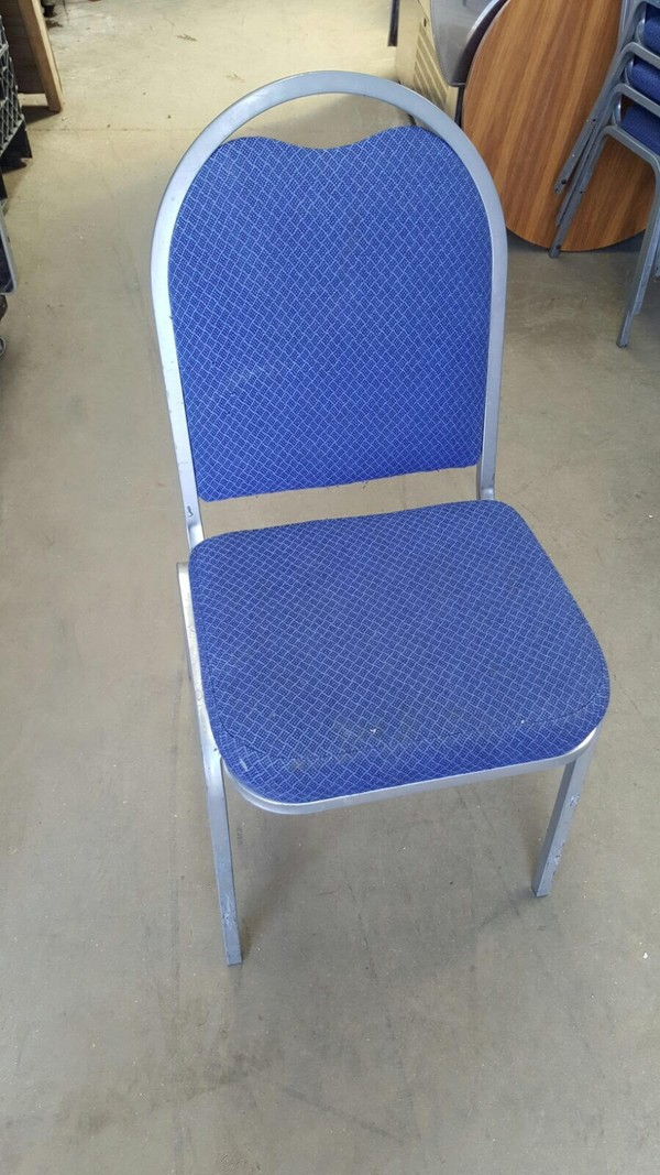 85 x Blue Stacking Banquet Chair
