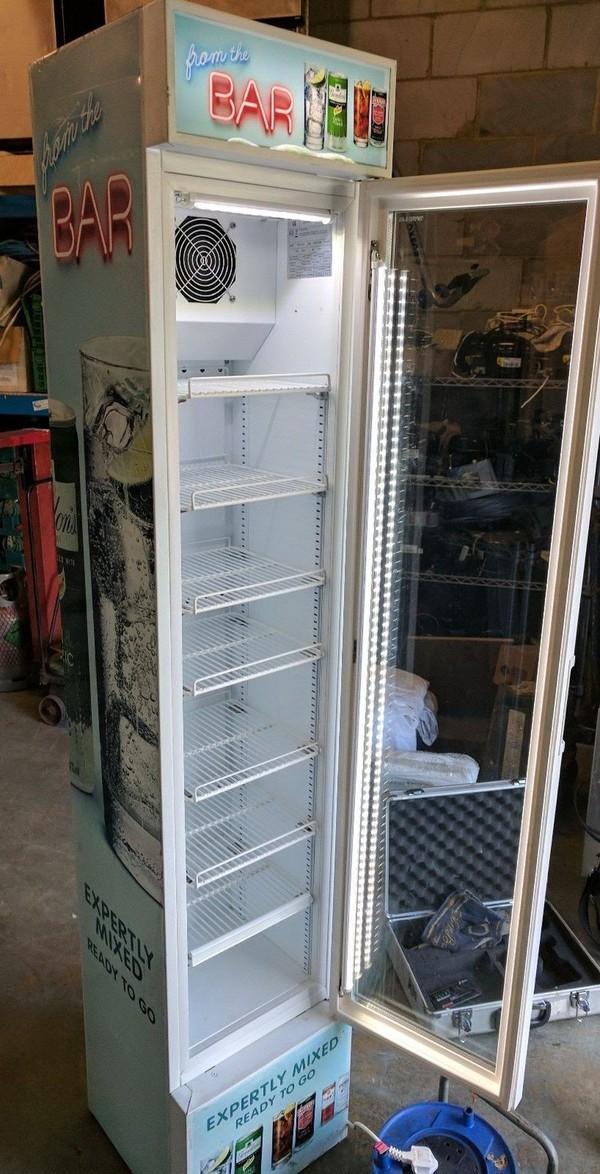 Efficold RVC-110 Slimline Display Drinks Chiller Fridge Cooler Refrigerator
