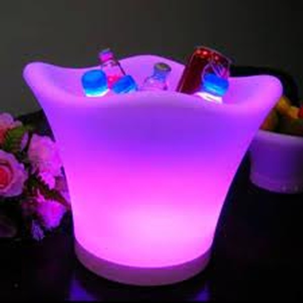 Purple LED Glowing Ice Buckets