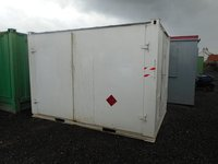 Anti-Vandal Generator Store Portable Building Powercell Bunded Fuel Tank