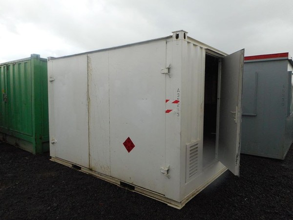 Anti-Vandal Generator Store Portable Building Powercell Bunded Fuel Tank