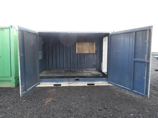 Anti-Vandal Generator Store Portable Building Powercell Bunded Fuel Tank Double Door