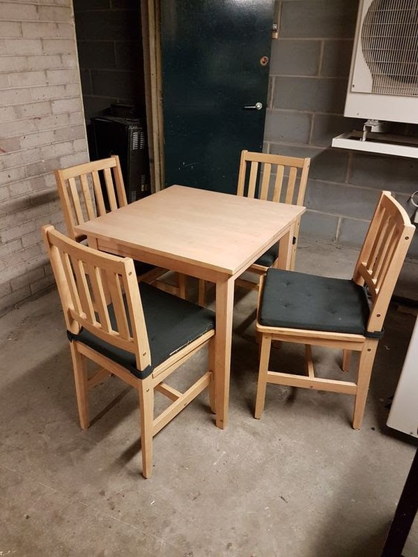 Brown Woodern Tables And Chairs For Sale