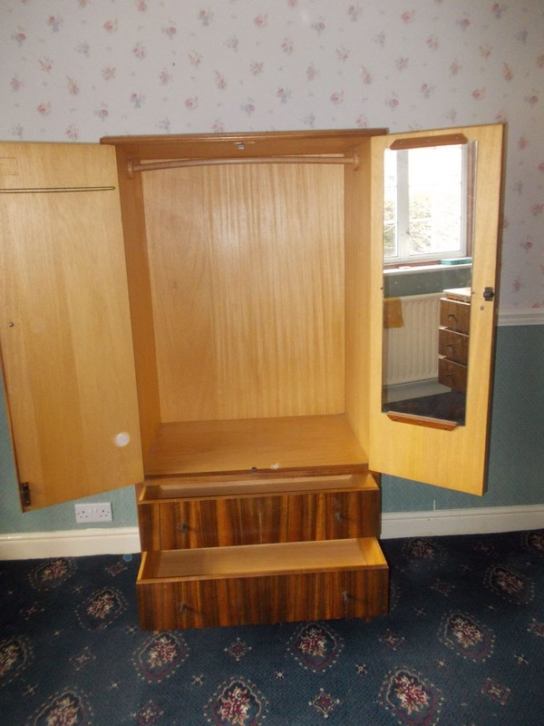 Double fronted, double drawer 'Tall Boy' Morris of Glasgow