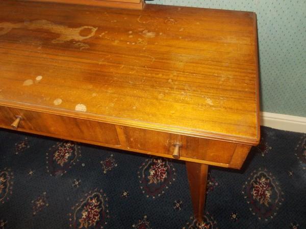 Morris of Glasgow Three Drawer Dressing Table Australian walnut