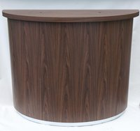 Tall Wooden Poseur Height Champagne Table with Built In Ice Buckets