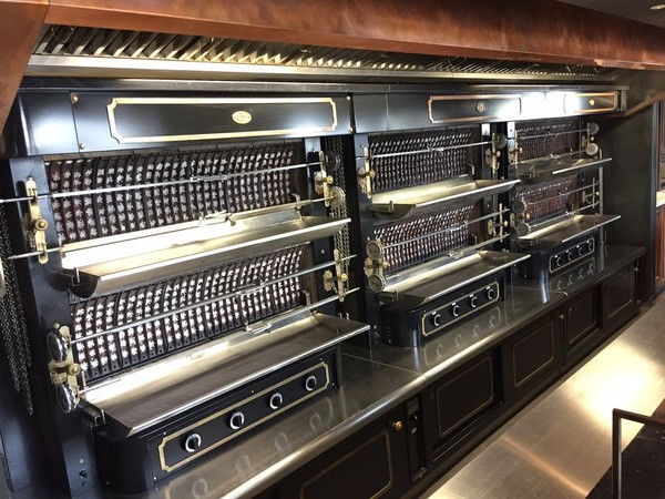 Black French Hand Crafted Rotisseries