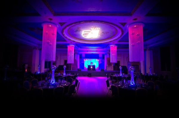 Circular String Drape Centre Pieces