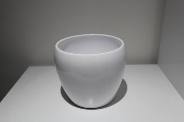 Ceramic White Vase/Plant Pot For Sale