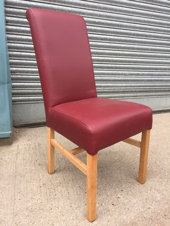 14 x second hand chairs in red