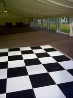 Portable Floormakers Black and White Chequered Dance Floor