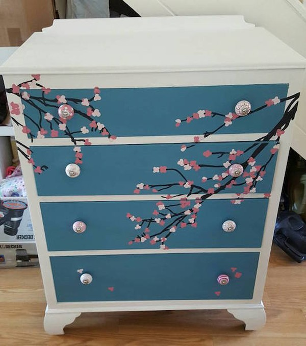 Cherry Blossom Chest of Drawers
